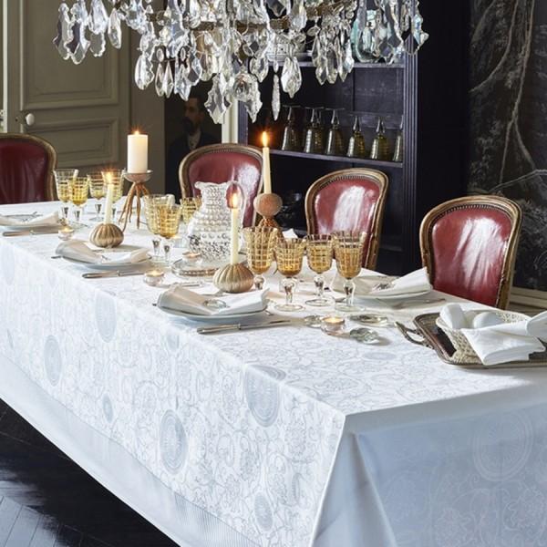 Garnier Thiebaut Damast Tischdecke APPOLINE white *
