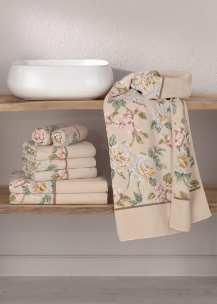 Feiler Chenille Handtücher VANILLA ROSE