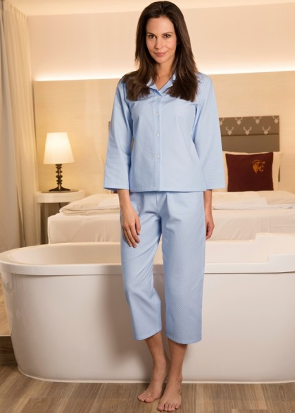 NOVILA Damen Feinflanell Pyjama PIA